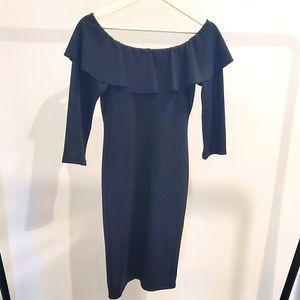 Black Zara Midi dress